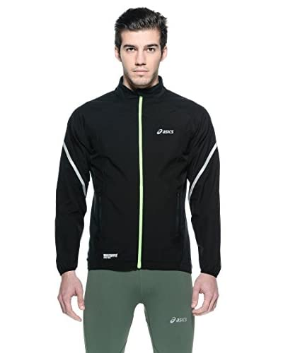 Asics Giacca Gore Windstopper [Nero/Lime]