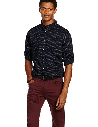 french-connection-mens-dot-contrast-slim-fit-long-sleeve-shirt-blue-marine-blue-large