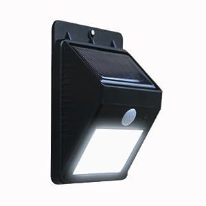 Frostfire Bright LED Wireless Solar Powered Motion Sensor Light