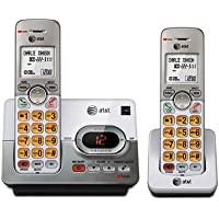 AT&T 2 Handset Expandable Cordless Phone System with Digital Answering System (Silver)