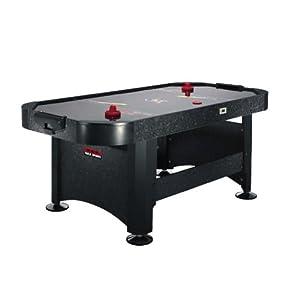Speed Airhockey-Tisch stabiler Airhockeytisch groß (183x81x91cm Spieltisch, inkl. 2x Airhockey Puck & Schläger) schwarz