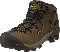 KEEN Utility Men\'s Detroit Mid Steel Toe Work Boot,Brindle,12 D  US