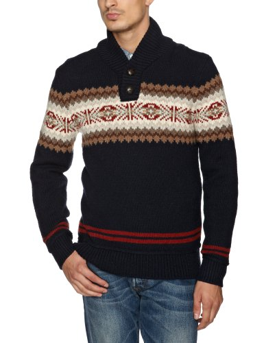 Levi's Fairisle Shawl Pullover Men's Jumper Union Blue X-Large