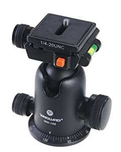 Vanguard SBH-100 Small Magnesium Alloy Ballhead with Two Onboard Bubble Levels