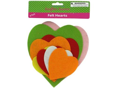 Felt heart shape cut-outs - Pack of 48