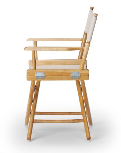 Telescope Casual World Famous Dining Height Director Chair, Natural with Varnish Frame image