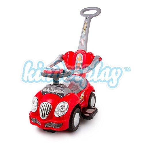 RUTSCHAUTO HUPE Lauflernwagen Rutschfahrzeug Farbwahl Kinderfahrzeug NEU 3 Farbe (KP0558Rot)