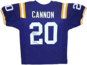Billy Cannon Signed LSU Tigers Purple Custom Jersey Heisman