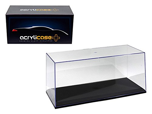 ACRYLICASE CLEAR DISPLAY SHOW CASE FOR 1/18 Diecast Car BLACK BASE (Collectible Model Cars compare prices)