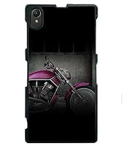 PRINTVISA Pink Bike Premium Metallic Insert Back Case Cover for Sony Xperia Z1 - D6123