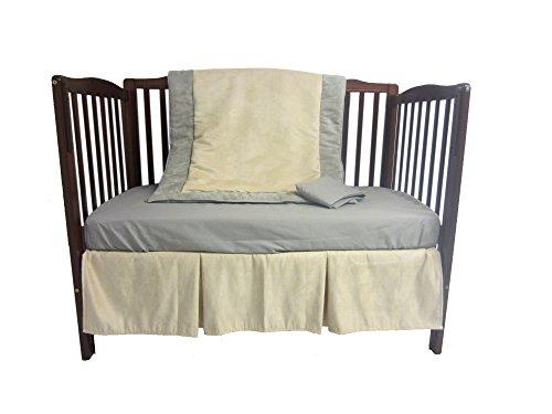 Baby Doll Zuma 4 Piece Crib Bedding Set, Grey/Beige
