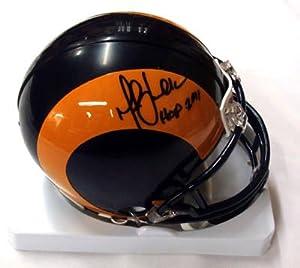 Marshall Faulk Autographed St Louis Rams Mini Helmet HOF 2011 PSA DNA