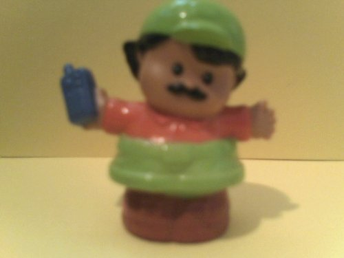 Little People Replacement Figure Construction Worker Holding Radio - 1