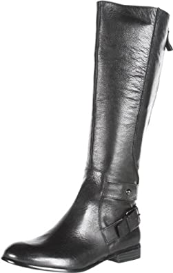 Enzo Angiolini Women's Valetta Knee-High Boot,Black Leather,5 M US