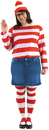 Elope Womens Storybook Waldo Where'S Wenda Kit Theme Party Halloween Costume