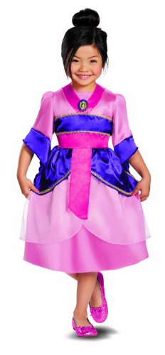 Disguise Disney'S Mulan Sparkle Classic Girls Costume, 7-8 front-659558