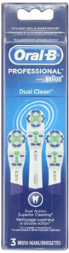 Oral-B Professional Dual Clean Replacement Brush Head 3 Count