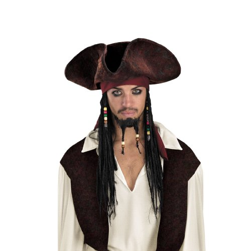 Hat With Beaded Braids Theatre Costumes Pirates of the Caribbean Costume