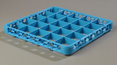 Carlisle Re2514 Opticlean 25-Compartment Divided Glass Rack Extenders, Carlisle Blue front-87718