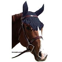 Intrepid International Fancy Ear Nets for Horses, Black
