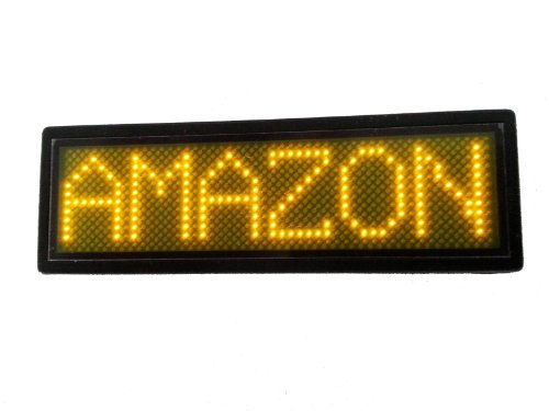 Programmable Scrolling Msd Led Name Badge (12X48 Pixels) Yellow
