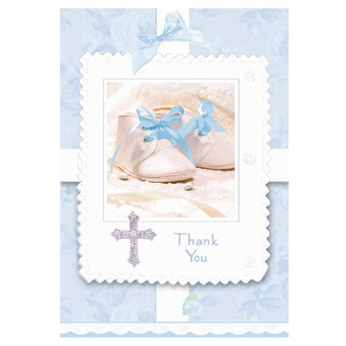 Tiny Blessing Blue Thank You Cards (8 Count)