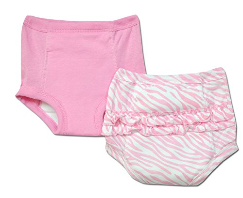 Gerber 2pk Girls Training Pants with Waterproof Liner Pink - 2t/3t