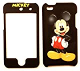 Mickey Mouse Black Apple iPod iTouch 4 Faceplate Case Cover Snap On