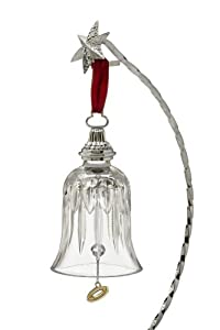 Waterford Crystal 12 Days of Christmas Bell, 5th Edition, Five Gold Rings, Christmas Ornament