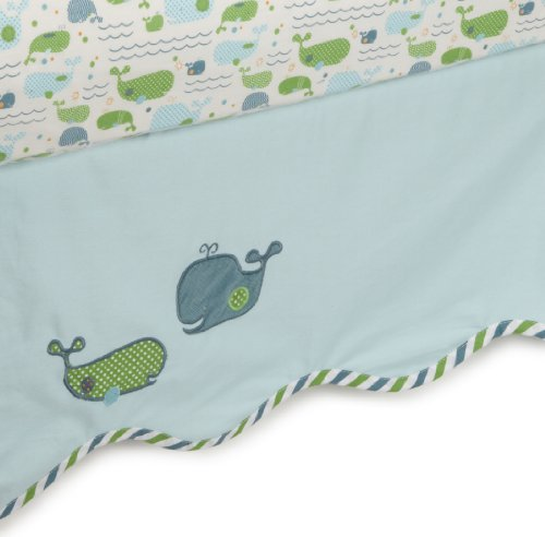 MiGi 3 Piece Crib Set, Little Whales