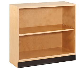 "Diversified Woodcrafts OS-1702 Maple Hardwood Open Shelf Floor Storage Bookcase with 2 Adjustable Shelves, 36"" Width x 35"" Height x 12"" Depth"