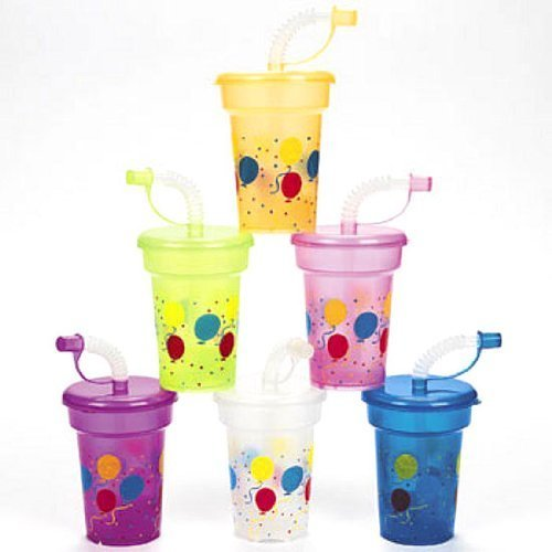 Fun Express Birthday Party Mini Sipper Cups 1 Dozen FNEIN-26/2123
