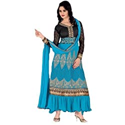 StarMart Womens Georgette Straight Dress Material of Kavya 36 - 36002