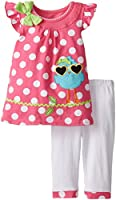 Young Hearts Little Girls' 2 Piece Shirt Set with Matching Legging