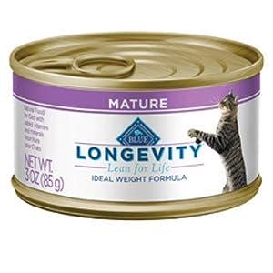 Blue Buffalo Longevity Mature Whitefish Canned Cat Food, 3 oz.
