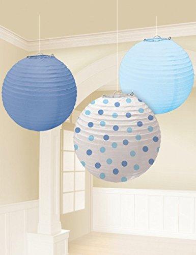 Amscan Paper Lanterns Baby Shower Blue