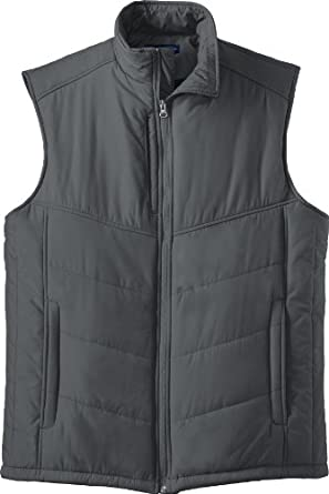 Port Authority - Quilted Puffy Vest. J709,X-Small,Dark Slate