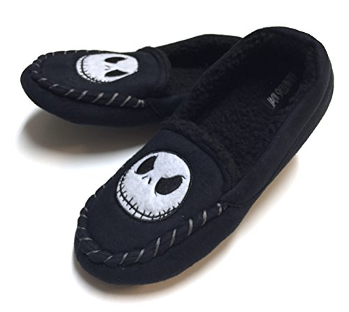 nightmare before christmas jack embroidered moccasian slippers
