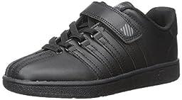 K-SWISS Classic VN Velcro Sneaker (Infant/Toddler/Little Kid/Big Kid), Black/Black, 3 M US Infant