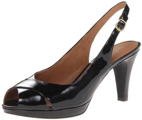 Clarks Women's Wessex Bria Platform Sandal,Black,8.5 M US