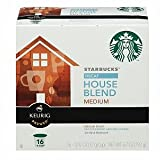 Starbucks Coffee * Decaffeinated House Blend * Medium, 16 K-cups [Pack of 2]
