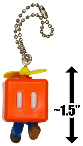 "Propeller Block Mario ~1.5"" Mini Figure Charm: Super Mario 3D Land Dangler Series"