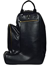 NOORA Leather SKI BOOT BAG - HELMET PACK - Boot Bag - Practical Ski Boot Bag - Winter Sports Bag - Horse Riding...