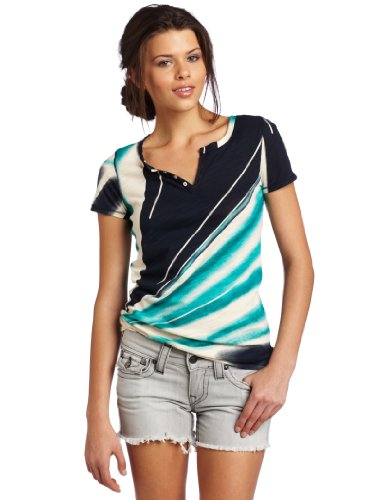 Lucky Brand Women's Ocean Tee, Blue Multi