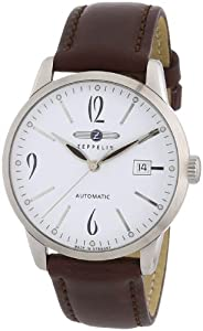 Zeppelin Gents Watch Flatline Automatic With Date White 7350-1