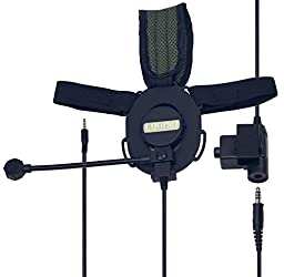 Coodio 3.5mm Jack Plug Tactical Military Army Outdoor Sports [Heavy Duty] Headphone [Boom Microphone] [Noise Cancelling] Headset Earphone For Cellphone, Gaming, Pc Computers, Creative Christmas Gift