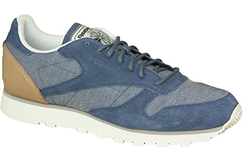 Reebok - CL Leather Fleck - AQ9722 - Color: Blue - Size: 7.0