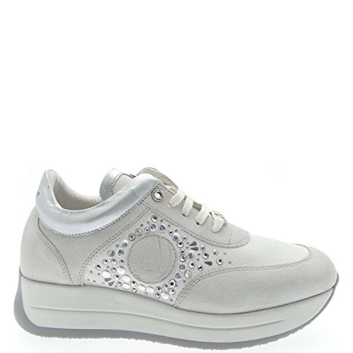Janet Sport 31838 Sneakers Donna Pelle Bianco Bianco 41