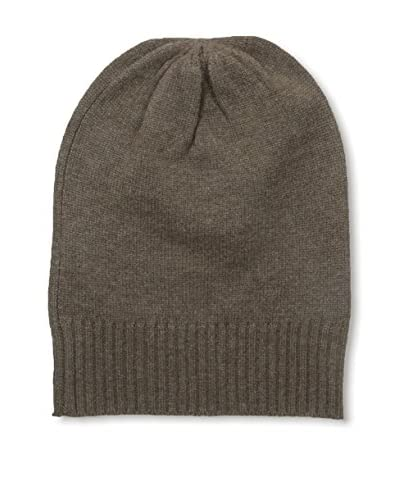 Cullen Men's Oversized Cashmere Skull Cap, Walnut