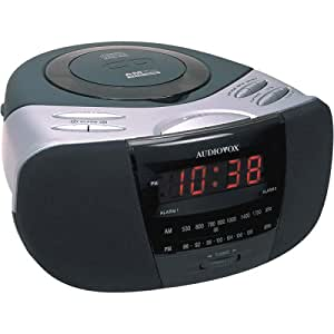 audiovox ce256 cd am fm alarm clock radio electronics. Black Bedroom Furniture Sets. Home Design Ideas